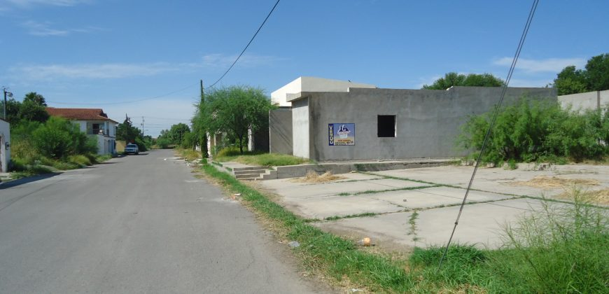 VENTA DE TERRENO CON CONSTRUCCIÓN EN OBRA NEGRA EN C. PALAÚ ESQ. CON CALZADA DE LA RONDA, PIEDRAS NEGRAS COAHUILA (VT #245 )