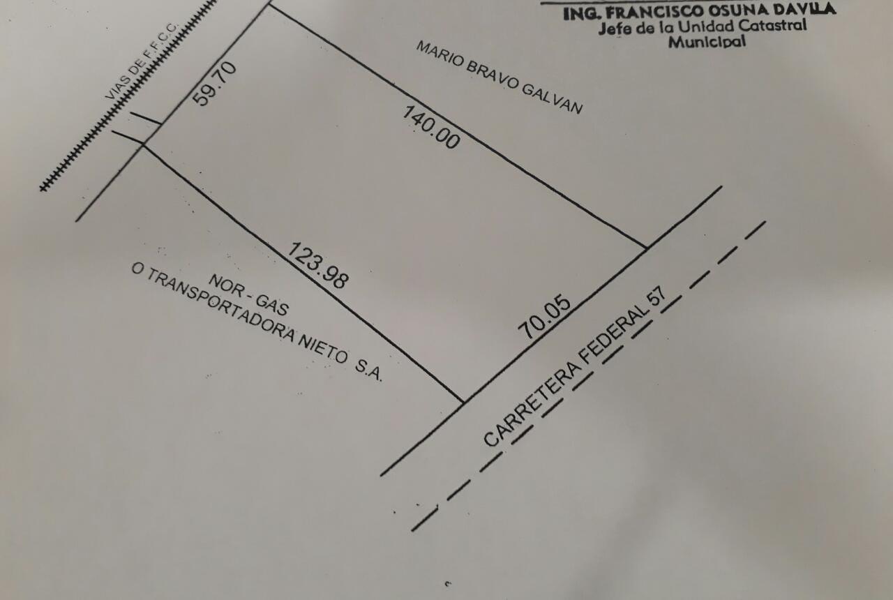 Renta Terreno Comercial, Ubicado en Vías de FFCC Y Carretera Federal 57 en Nava Coahuila (RT #15)