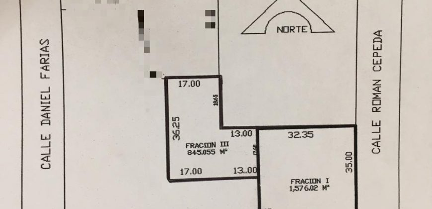 Se Vende Terreno Comercial en la mejor zona de la ciudad 2,421 m2 (VT #235)