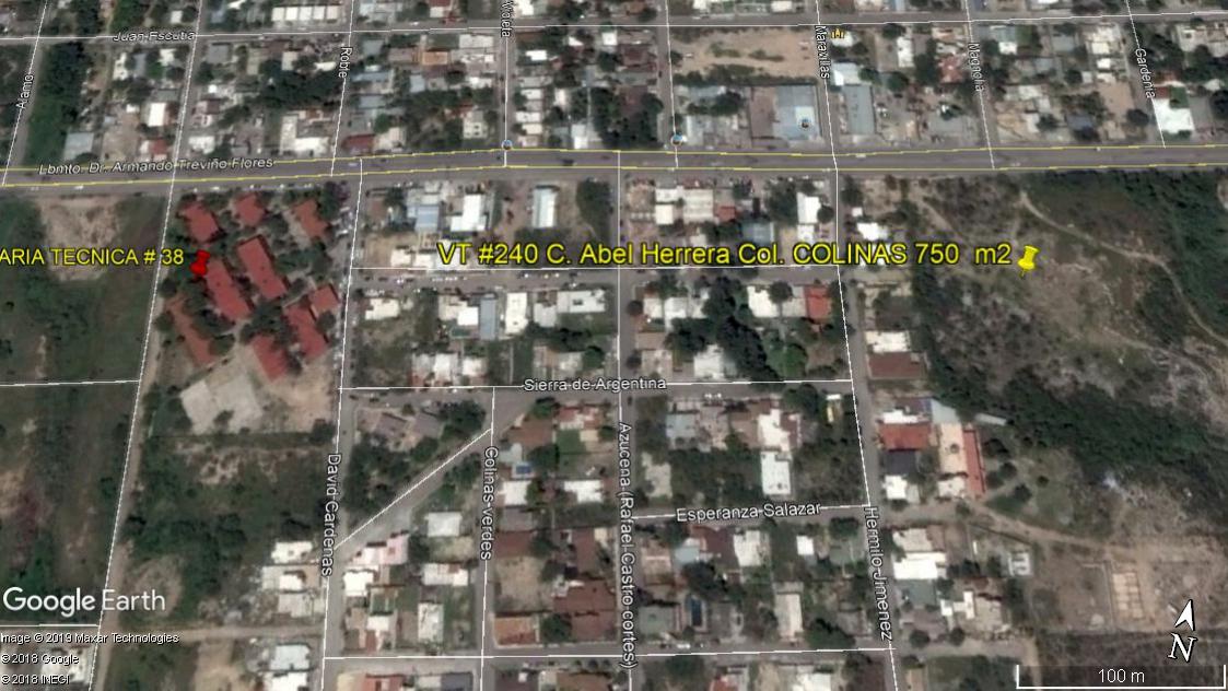 Venta de Terreno Rústico, Irregular, Residencial Colinas (VT #240)