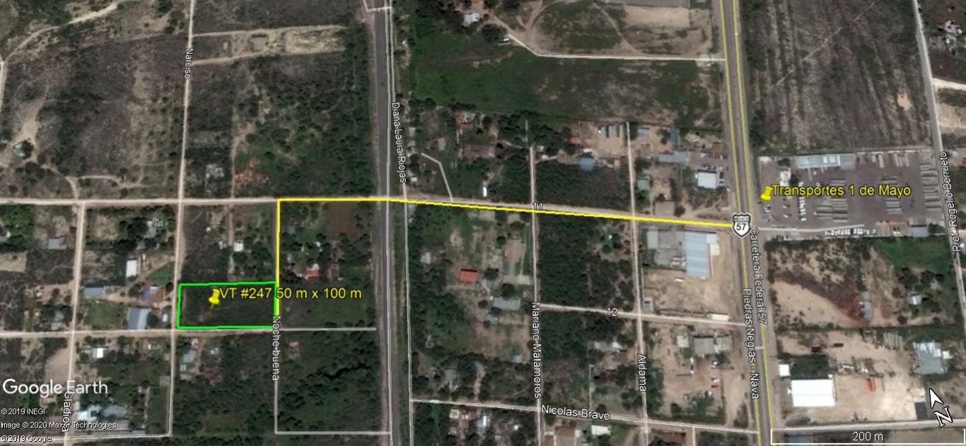 Vendo Terreno Urbano, ideal para Quinta, Nava Coahuila (VT #247)