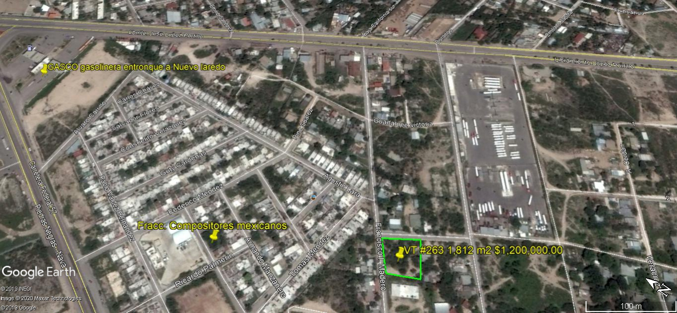 Venta Terreno Urbano 1,812m2 Col. Carranza (VT #263)