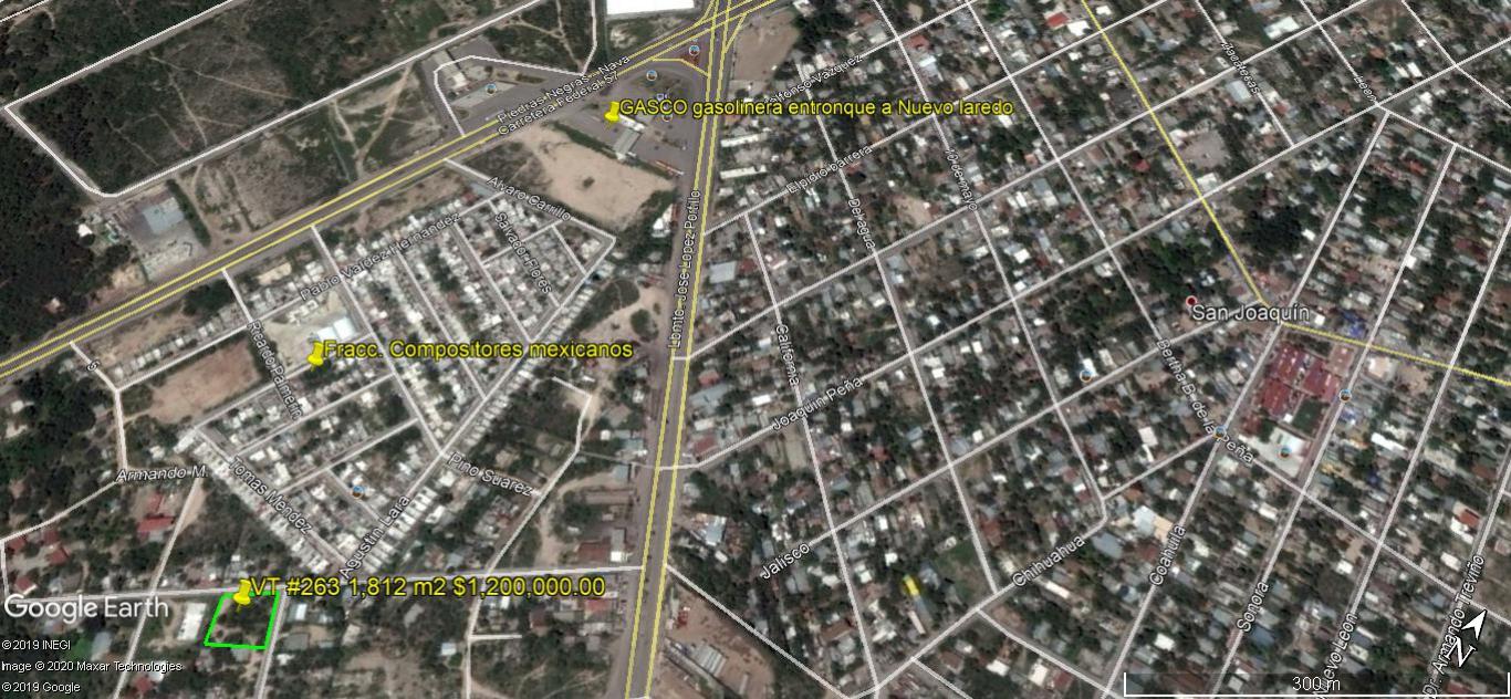 Venta Terreno 1,812 m2 Col. Carranza (VT #263)