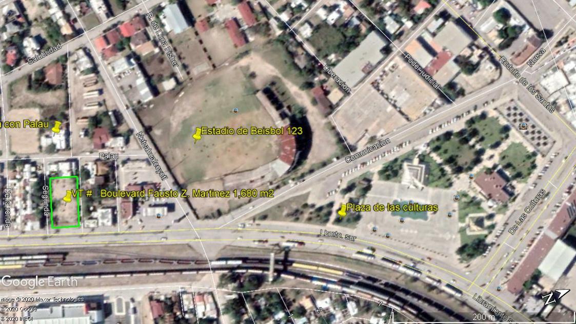 Venta Terreno Comercial, Lib. Fausto Z. Martinez a 3 cuadras de la Plaza de las Culturas, Piedras Negras Coahuila (VT #134/18)