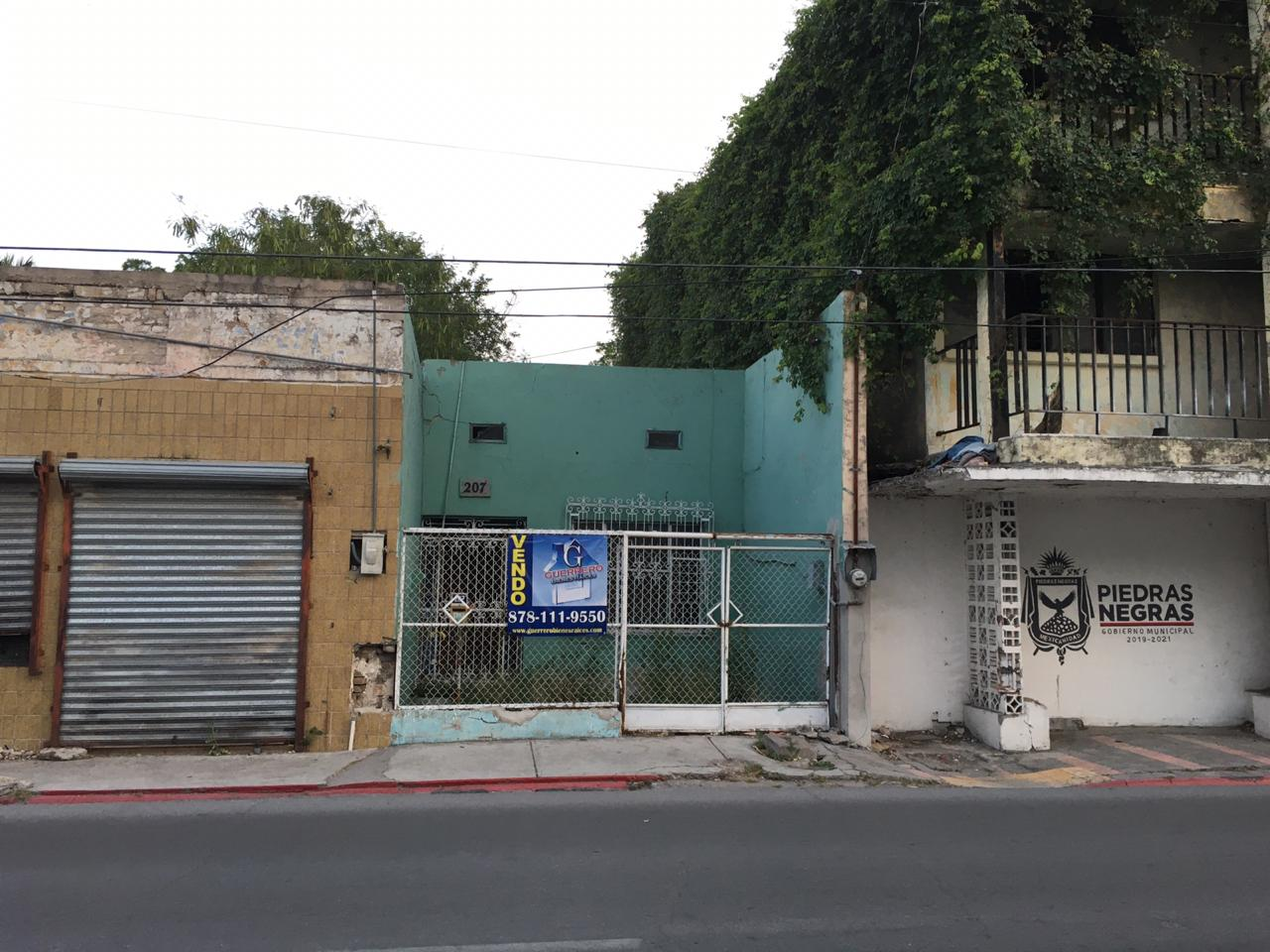 Venta de Terreno Comercial, Calle Allende Pte. #207, zona centro, Piedras Negras Coahuila.(VT #280)